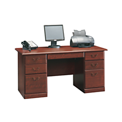 Sauder(R) Heritage Hill Executive Desk, 29in.H x 59 1/2in.W x 29 1/2in.D, Classic Cherry