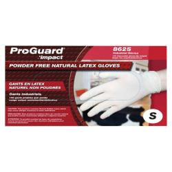 ProGuard Disposable Latex PF General Purpose Gloves - Small Size - Latex - Natural - Powder-free, Disposable, Beaded Cuff, Ambidextrous, Comfortable - For Food
