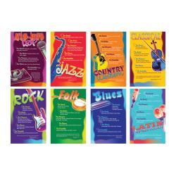 North Star Teacher Resources Music Genres Bulletin Board Set, 11in. x 17in., Multicolor, Pre-K - Grade 8
