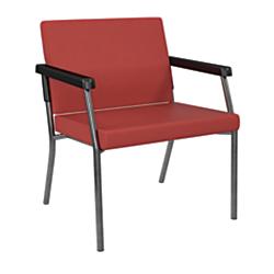 Office Star(R) Worksmart(R) Bariatric Big Tall Guest Chair, Lipstick/Gunmetal Gray