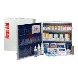 First Aid Only 3-Shelf First Aid Station With Medications, 15 1/2in.H x 17in.W x 5 3/4in.D