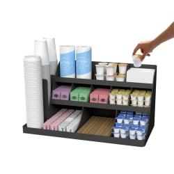 Mind Reader Extra-Large Coffee Condiment And Accessory Organizer, 12 1/2in.H x 24in.W x 11 7/8in.D, Black