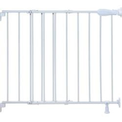 Summer Infant Top of Stairs Simple to Secure Metal Gate (White)