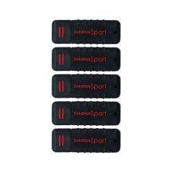 Centon DataStick Pro USB 2.0 Flash Drives, 64GB, Sport Black, Pack Of 5 Flash Drives, S1-U2W1-64G-5B