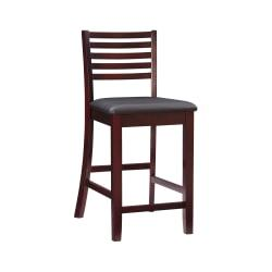 Linon Home Triena Collection Stool, Counter, Espresso/Dark Brown