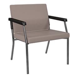 Office Star(R) Worksmart(R) Bariatric Big Tall Guest Chair, Stratus/Gunmetal Gray
