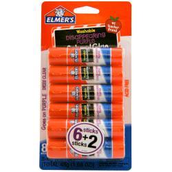 Elmer's Washable Disappearing Purple School Glue Sticks, 0.2