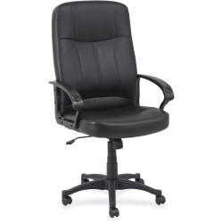 Lorell(R) Chadwick Executive Bonded Leather High-Back Chair, Black