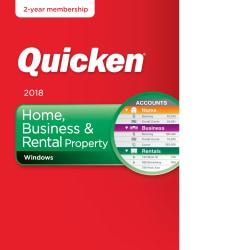 Quicken(R) Home, Business And Rental Property 2018, Download Version -  0170158