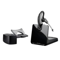 Plantronics CS530 Wireless Headset System With HL10 Lifter, Black/Gray/Silver
