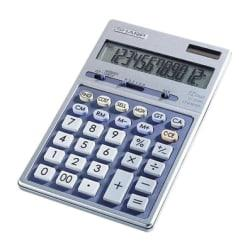 Sharp Calculators Sharp EL339HB Desktop Display Calculator - Auto Power Source Switching - 12 Digits - LCD - Battery/Solar Powered - 1 - Button Cell - 6.9in. x