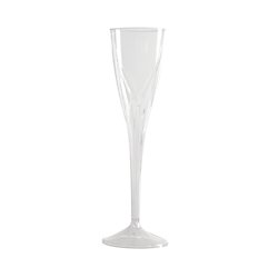 Classicware(R) Clear Plastic Champagne Flutes, 5 Oz., Pack Of 100