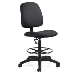 Global(R) Goal(TM) Armless Drafting Stool, 48in.H x 21in.W x 24 1/2in.D, Stone Fabric