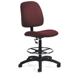 Global(R) Goal(TM) Armless Drafting Stool, 48in.H x 21in.W x 24 1/2in.D, Rhapsody Fabric