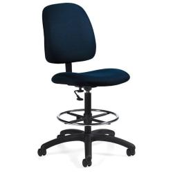 Global(R) Goal(TM) Armless Drafting Stool, 48in.H x 21in.W x 24 1/2in.D, Ocean Fabric