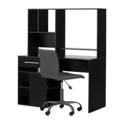 South Shore Annexe 2-Piece Desk And Office Chair Set, Black/Gray