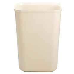 Rubbermaid(R) Fire-Resistant Wastebasket, 7 Gallons, Beige