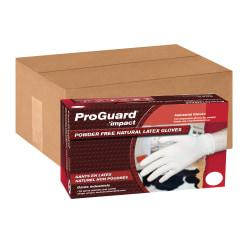ProGuard Disposable Latex PF General Purpose Gloves - Large Size - Latex - Natural - Powder-free, Disposable, Beaded Cuff, Ambidextrous, Comfortable - For Food