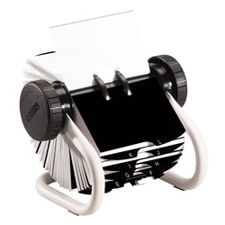 Rolodex Rotary Business Card File White