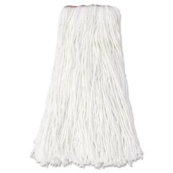 Rubbermaid(R) Commercial Nonlaunderable Cut-End Rayon Mop Heads, 16 Oz, White, Pack Of 12 Mop Heads