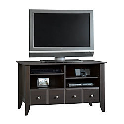 Sauder(R) Shoal Creek TV Stand For TVs Up To 42in., Jamocha Wood