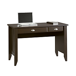 Sauder(R) Shoal Creek Computer Desk with Flip Down Computer Tray, Jamocha Wood