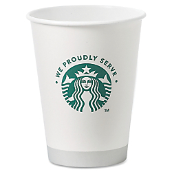 Starbucks Coffee SBK438582 Hot Cups- 12 oz- 1000-CT- White