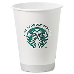 Starbucks Coffee SBK438582 Hot Cups- 12 oz- 1000-CT- White