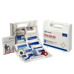 First Aid Kit for 10 People, 62 Pieces, OSHA Compliant, Plastic Case