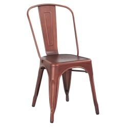 Office Star(TM) Bristow Armless Chair, Brushed Red Copper, Set Of 2 Chairs