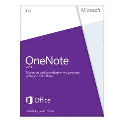 Microsoft(R) Office OneNote(R) 2013, English Version, Product Key