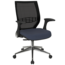 Office Star(TM) Pro-Line II ProGrid Fabric High-Back Chair, Cadet/Black/Silver