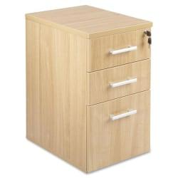 Lorell(R) Concordia Series 22in.D 3-Drawer Letter-Size File Cabinet, Latte
