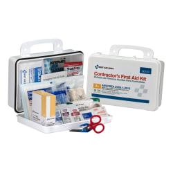 First Aid Only 25-Person Contractor First Aid Kit, 9 1/2in.H x 7 1/4in.W x 2 3/4in.D