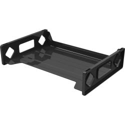 Deflecto Sustainable Office Stackable Desk Tray - 2.8in. Height x 13in. Width x 9in. Depth - Desktop - Recycled - Black - Plastic - 1Each