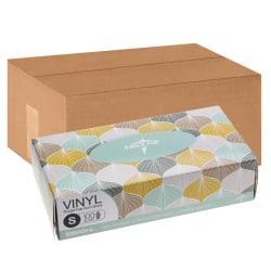 Medline Designer Boxed Powder-Free Vinyl Gloves, Small, Clear, 100 Gloves Per Box, Case Of 10 Boxes