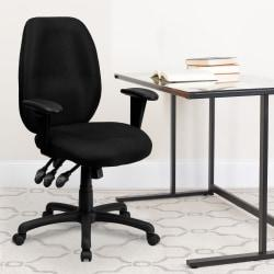 Flash Furniture Fabric High-Back Multifunctional Swivel Chair, Black