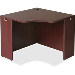 Lorell(R) Essentials Series Corner Desk, 36in.W, Mahogany