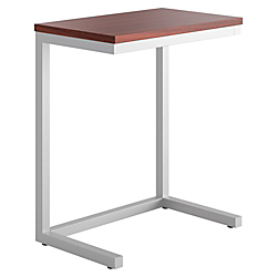 basyx (R) by HON (R) Occasional Cantilever Table, 20 3/4in.H x 17 1/2in.W x 9 13/16in.D, Chestnut