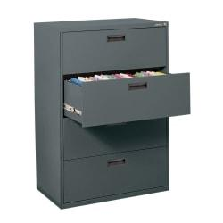 Sanduskyr 400 Series Steel Lateral File Cabinet 4drawers 50 58inh X 30inw X 18ind Charcoal image