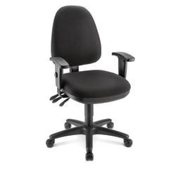 WorkPro Patriot Multifunction Fabric Task Chair, Black/Black