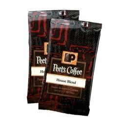 Peet's Coffee And Tea Portion Packs, House Blend Coffee, 2.5 Oz, Pack Of 18