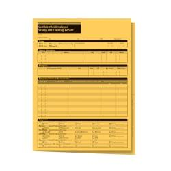ComplyRight Confidential Employee Safety And Training Record Folders, 9 1/2in. x 11 3/4in., Manila, Pack Of 25