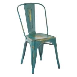 Office Star(TM) Bristow Armless Chair, Antique Turquoise, Set Of 4 Chairs