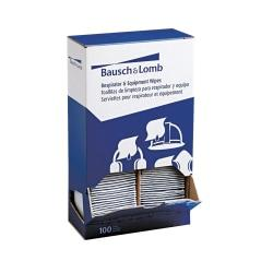 Bausch Lomb Antibacterial Office Equipment Wet Wipes, Cloth, 5 x 8, 100/Box