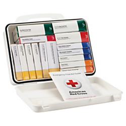 First Aid Only 16-Unit First Aid Kit, 2 3/8in.H x 6 5/16in.W x 9in.D, White