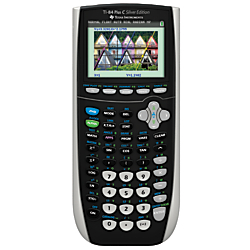 Texas Instruments(R) TI-84 Plus Silver Edition Graphing Calculator, Black