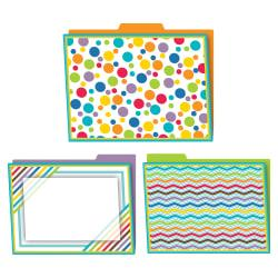 Carson-Dellosa Color Me Bright Design File Folders, Letter Size, Assorted Colors, Pack Of 6 Folders