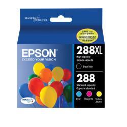 Epson(R) DURABrite(R) Ultra Black/Cyan/Magenta/Yellow Ink Cartridges (T288XL-BCS), Pack Of 4