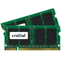 Crucial(TM) DDR2 Memory Upgrade Kit For Notebook Computers, 4GB (2GB x 2) SODIMM, PC2-6400 (800 MHz)